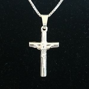 925 Sterling silver Jewelry - 925 Sterling silver Tiny Crucifix necklace. New